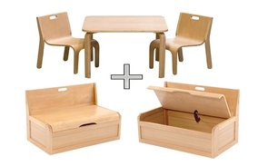 kindersitzgruppe holz top 5 angebote neu. Black Bedroom Furniture Sets. Home Design Ideas